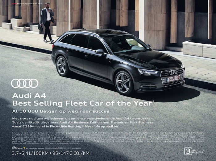 Audi_A4_Best selling fleet car of the year